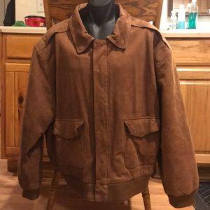 Paris Sport Club brown leather Bomber SZ XL